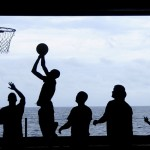 people play basketball